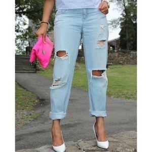 Zara boyfriend jeans.